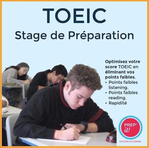 Stage de préparation TOEIC